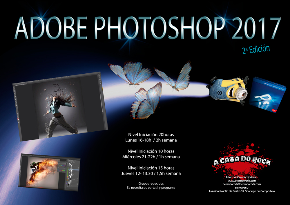 2ª Edición do Curso de Adobe Photoshop 2017